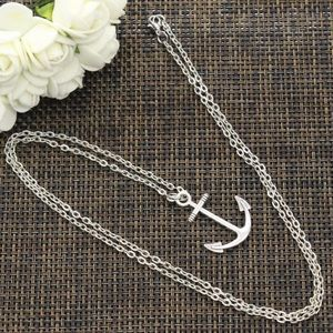 Jewelry - NEW anchor nautical long chain necklace